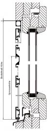 Drehrahmen K/K plus nach außen öffnend mit 3-seitigem Montagerahmen