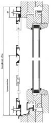 Drehtür K nach außen öffnend mit Montagerahmen, 2-flügelig