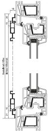 Schiebetür mit Z-Laufschiene oben und unten