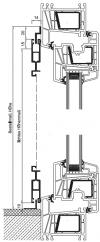 Schiebetür mit Z-Laufschiene oben und L-Winkelprofil unten