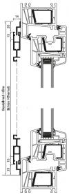 Schiebetür mit Z-Laufschiene oben und unten, 2-flügelig