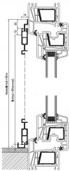 Schiebetür mit Z-Laufschiene oben und U-Laufschiene unten