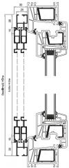 Schiebetür mit Montagerahmen S, 2-flügelig